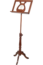 Early Music Shop 63 Inch Music Stand Adjustable 1 Tray Regency Style