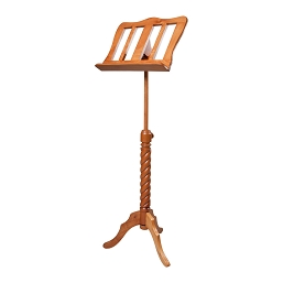 Roosebeck Music Stand Red Cedar Adjustable Single Tray Spiral