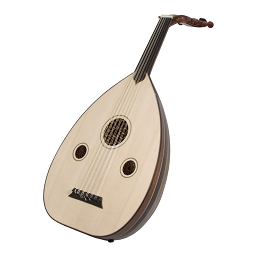 Mid-East Turkish Electric Oud Black and Mahogany + Soft Case + Pick BLEMISHED