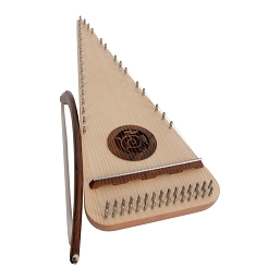 Roosebeck 20 Inch Psaltery Alto Rounded Left Handed + Bow