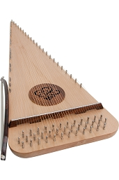 Roosebeck 29.5 Inch Psaltery Baritone 37 String Rounded + Bow