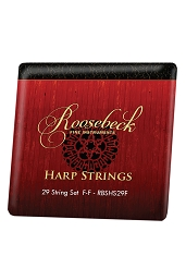 Roosebeck Harp 29 String Set F thru F Color Coded