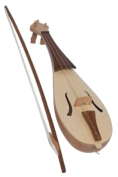 Roosebeck 23 Inch Rebec Alto 3 String Bow + Padded Gig Bag