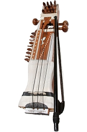 banjira 25 Inch Indian Sarangi + Bow + Fiberglass Case