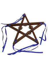 Mid-East 12 Inch Tambourine 5-Point Star 8 Jingles