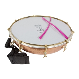 banjira 16 Inch Tasha Kettledrum Bolt Tuned Copper + Beaters + Strap BLEMISHED
