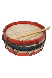 Roosebeck 10 Inch Tabor Drum Goatskin Heads + Sticks