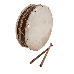 Early Music Shop 12 Inch Tabor Drum Goatskin Heads Hemp Snare + Sticks