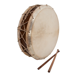 Early Music Shop 14 Inch Tabor Drum Goatskin Heads Hemp Snare + Sticks