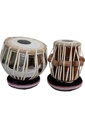 banjira Pro Tabla Set Strap Tune Brass Bayan + 5.25