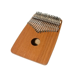 DOBANI 7 Inch Kalimba Thumb Piano 17 Key Red Cedar Round Back