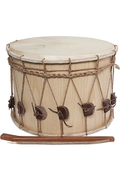 Mid-East Tupan Drum Davul 2 Heads Rope Tuned NO Strap + Beaters 16 Inch