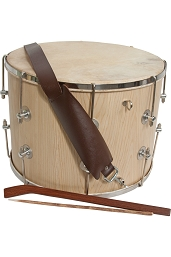 Mid-East 16 Inch Tupan Davul Drum Rope Tune + Beaters