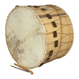 Mid-East 26 Inch Tupan Drum Rope Tune + Beaters No Strap