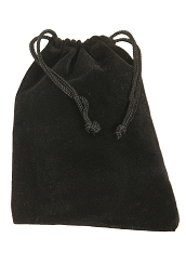Mid-East Velvet Drawstring Bag for Finger Cymbals 4 x 5.5 Inch Black VBAG