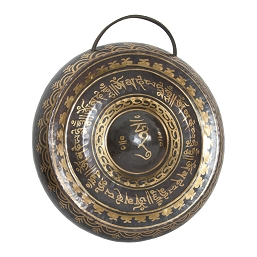 DOBANI 10.5 Inch Tibetan Prayer Gong + Beater (27cm) BLEMISHED