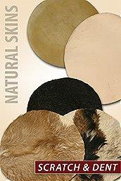 Scratch and Dent Natural Skin Drum Heads