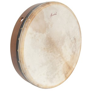 Roosebeck 18 x 3.5 Inch Bodhrán Cross Bar Fixed Goatskin + Tipper Cipin