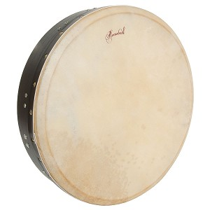Roosebeck 16 x 3.5 Inch Bodhrán TBar Inside Tuning Black + Tipper Cipin + Wrench