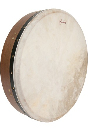 "Roosebeck Bodhrán 18"" Double Cross Bar Tunable Walnut + Tipper BLEMISHED"