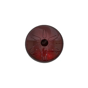 Idiopan Bella Electric Steel Tongue Drum 6 Inch Tunable Ruby Red + Mallets