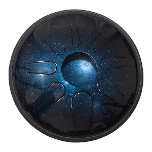 Idiopan Lunabell Steel Tongue Drum 8 Inch Tunable Midnight Blue + Mallets