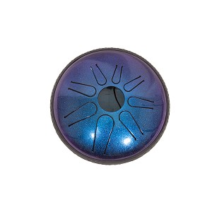 "Idiopan Lunabell Electric Steel Tongue Drum 8"" Tunable Sapphire Blue + Mallets"
