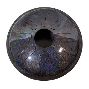 Idiopan Domina Steel Tongue Drum 12 Inch Tunable Onyx Rainbow + Mallets