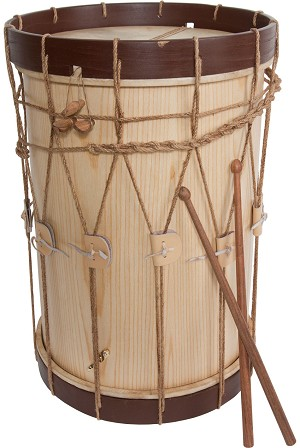 Early Music Shop Renaissance Drum 2 Head 13 x 19 Inch + Drum Sticks