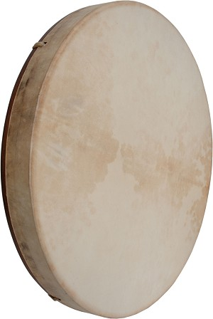 DOBANI 18 x 2 Inch Frame Drum Pretuned Goatskin Head Red Cedar + Beater