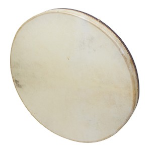 DOBANI Frame Drum Tunable Goatskin Head Wooden + Beater 30 x 2 Inch
