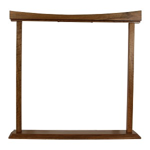 DOBANI Gong Stand Curved Walnut for up to 22 Inch Gong