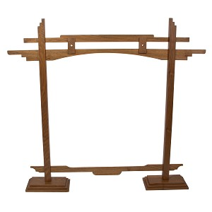 DOBANI Gong Stand Pedestal Style Walnut + Wrench | Fits up to 26 Inch Gong