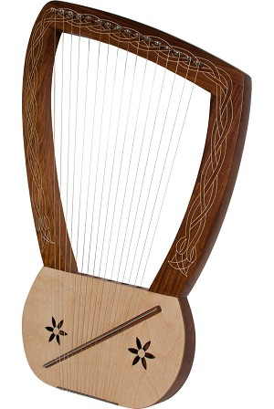 Mid-East 25 Inch Lyre Harp 16 String + Extra String Set + Gig Bag + Tuning Tool