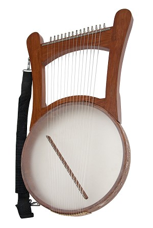 Mid-East 26 Inch Nevel Harp 15 String + Gig Bag + Tuning Tool