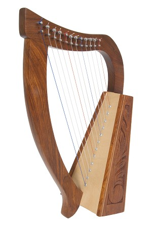 Roosebeck 21 Inch Baby Harp 12 String + String Set + Tool
