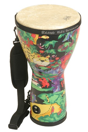 Remo Kids Percussion 8 x 15 Inch Djembe Rain Forest KD 0608 01