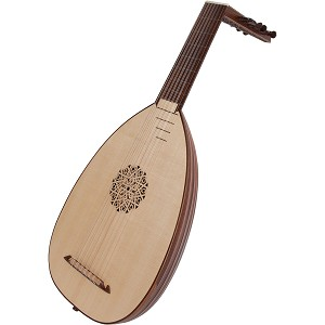 Roosebeck 23.62 Inch Deluxe Lute 7 Course Canadian Spruce + Padded Gig Bag