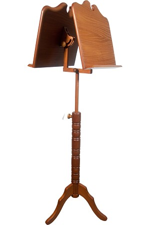 Roosebeck Boston Music Stand Double Tray Red Cedar Adjustable