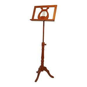 Early Music Shop Regency Music Stand Solid Red Cedar Adjustable Single Tray