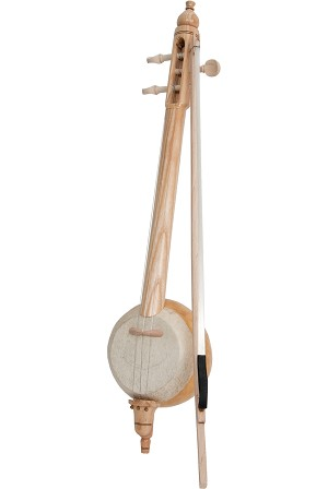 Mid-East 18 Inch Turkish Spike Fiddle Rebab 3 String + Bow BLEMISHED