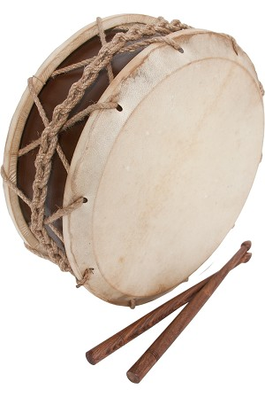 EMS 9 Inch Tabor Drum Goatskin Heads Hemp Snare + Sticks