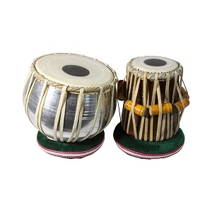 "banjira Tabla Set Strap Tune Bayan + 5.25"" Aluminum Dayan + Soft Case"